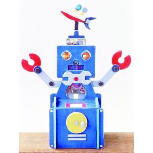 アイスタジオ・ウッズ ロボット貯金箱工作キット A61 木工工作キット|morinokobito