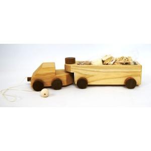 木 おもちゃ 北海道 津別木材工芸社 チップトレーラー|morinokobito