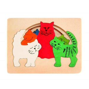 GEORGE LUCK  CATS(キャッツ) 木製はめこみパズル E6511 morinokobito