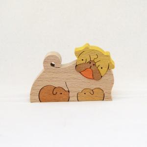 パグ KA705 ドッグコレクション 小黒三郎組み木|morinokobito