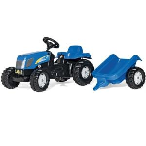 乗用おもちゃ Rolly toys ロリートイズ NEW HOLLAND ニューホランドキッズ トレーラー付き 013074|morinokobito