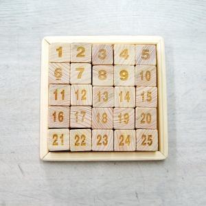 SEKINO 木製パズル 25マスパズル(気づかいの木シリーズ)|morinokobito