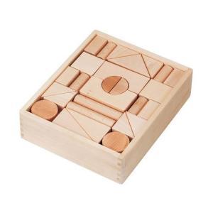木 おもちゃ 積み木 平和工業 MOCCOの森 森のブナつみき 2段 W-44|morinokobito