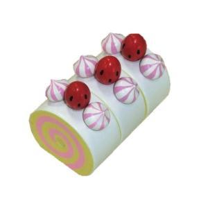 木のおもちゃ 人気おままごと 知育玩具 誕生日プレゼント  商品名:【小さめサイズ】ミニ・ロールケー...