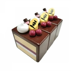 木のおもちゃ ままごと キッチン ミニ・ショコラケーキ 3384|morinokobito