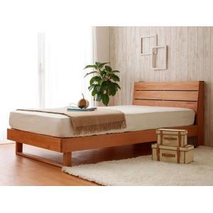 今なら送料無料、シンプルなデザインの木の木目がきれいなアルダー材のシングルベッド!  木目のきれいな...
