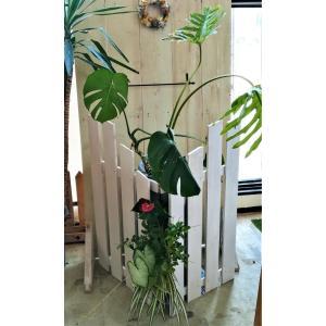 森の音モダチ/柵型の鉢カバー&ファスナーグリーン6030/植木鉢、プランター/日本製/(特許商品) morinootomodachi