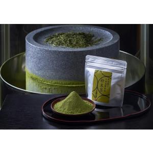 緑茶 粉末茶 石臼挽き粉末茶 八女玉露白折 45g  ネコポス発送対応 注文後即発送 |morioen