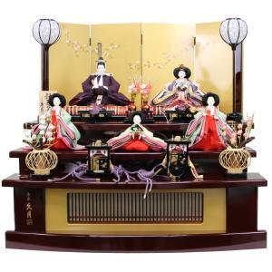 久月 雛人形 光園作 小三五親王 三寸官女 五人飾り 三段飾り S3218