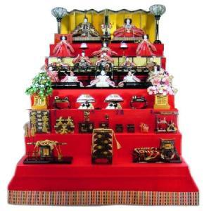 雛人形 120歓喜雛正絹本金(15人御所庭ひな人形7段飾り) morisige