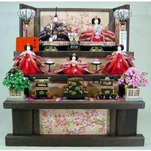 雛人形 100歓喜雛正絹本金5人(焼き桐3段飾り) morisige