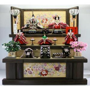 雛人形 100歓喜雛5人(黒塗りひな人形3段飾り) morisige