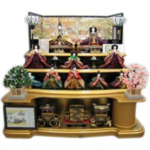 平安天鳳作名宝絵巻竹取物語帯使用(10人3段飾り) morisige