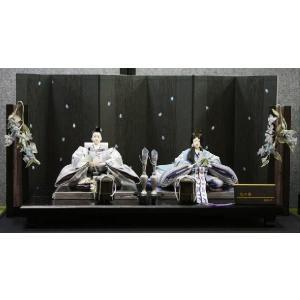 アート&デザイン後藤由香子作 花の舞ブルー 創作雛人形平飾り|morisige