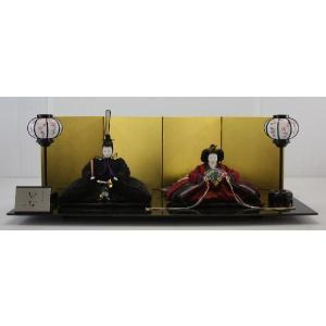 雛人形 80清水久遊作婆紗羅衣装三五親王飾り(金屏風山中塗りマーブル台平飾り)|morisige