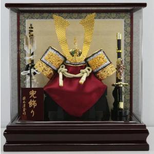 金龍付兜11号茶塗り枠アクリルケース飾り(G-13)