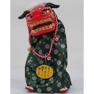 お正月用小物飾り 踊る獅子舞M P−1600-MR  グリーン又はゴールドまたはレッドをお選びくださ...