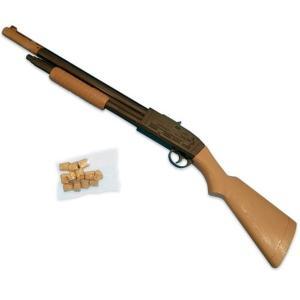 射的銃 コルクガン 1丁 コルク12玉付き W120×D30×H660 単品 射的 ピストル コルクガン射的銃 コルク銃|morisige