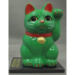 3号招き福猫緑(合格招福) 黒板付|morisige