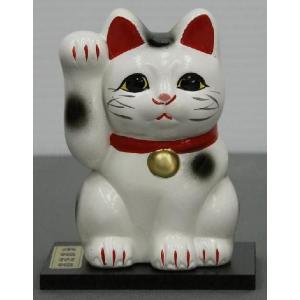 3号招き福猫白 黒板付|morisige