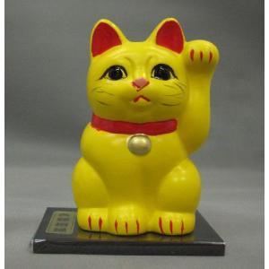 3号招き福猫黄(良縁招福) 黒板付|morisige