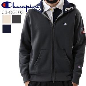 チャンピオン Champion フルジップ パーカー C3-QG103 2019年秋冬モデル|morita-golf