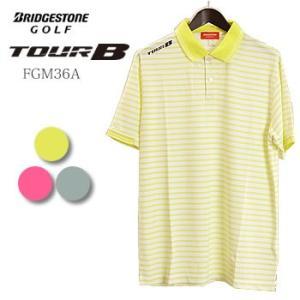 ブリヂストンゴルフ BRIDGESTONE GOLF TOUR B ボーダー 半袖ポロシャツ FGM36A 2017年春夏モデル|morita-golf