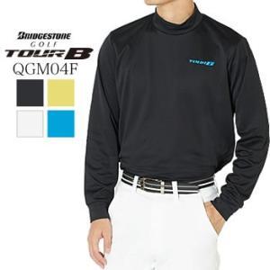 ブリヂストンゴルフ BRIGDESTONE GOLF TOUR B 長袖モックシャツ QGM04F 2019年秋冬モデル|morita-golf