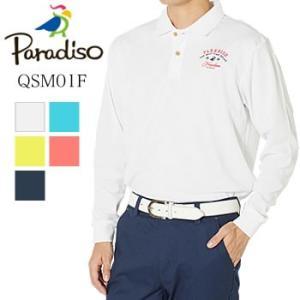 パラディーゾ PARADISO 長袖ポロシャツ QSM01F ブリヂストン BRIDGESTONE 2019年秋冬モデル|morita-golf
