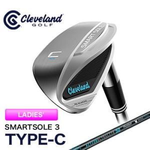 クリーブランドゴルフ Cleveland レディース スマートソール 3 TYPE-C ウエッジ アクションウルトラライト 50 カーボンシャフト 2017年日本正規品|morita-golf