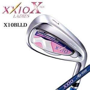ゼクシオ テン XXIO X レディース アイアン ブルー 単品(#5、#6、AW) MP1000L カーボンシャフト ダンロップ DUNLOP 2018年モデル|morita-golf