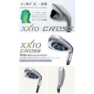 ゼクシオ クロス XXIO CROSS アイアン単品(#5、#6、AW、DW、SW) N.S.PRO 870GH DST for XXIO スチールシャフト ダンロップ DUNLOP 2019年モデル|morita-golf|02