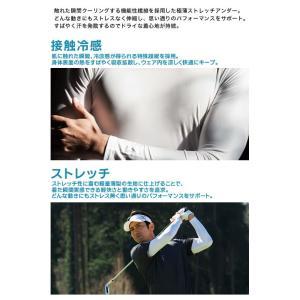 イオンスポーツ アンダーウエア ゼロフィット ZEROFIT コールドスキン ロングスリーブVネック EZCSUVA 男女兼用 2019年継続モデル|morita-golf|03