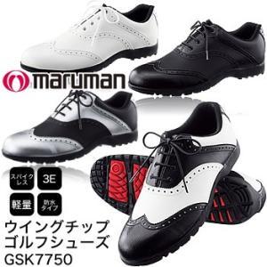 マルマン maruman ウイングチップ ゴルフシューズ GSK7750 2017年モデル|morita-golf