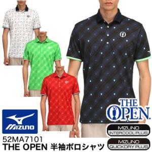ミズノ MIZUNO ジ オープン THE OPEN 半袖ポロシャツ 52MA7101 2017年春夏モデル|morita-golf