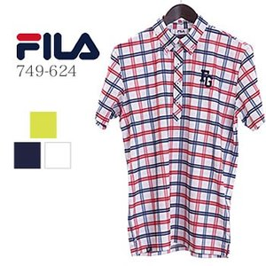 フィラゴルフ FILAGOLF チェック柄半袖ポロシャツ 749-624 2019年春夏モデル|morita-golf