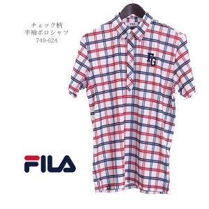 フィラゴルフ FILAGOLF チェック柄半袖ポロシャツ 749-624 2019年春夏モデル morita-golf 02