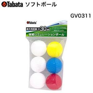 タバタ Tabata ソフトボール 6個入り GV-0311 morita-golf
