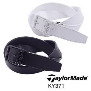 テーラーメイド TaylorMade TM ビッグロゴ レザーベルト KY371 2019年モデル|morita-golf