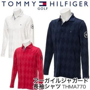 トミーヒルフィガーゴルフ TOMMY HILFIGER GOLF アーガイルジャガード 長袖シャツ THMA770 2017年秋冬モデル|morita-golf