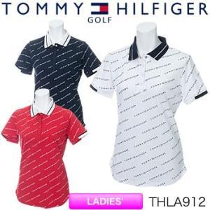 トミーヒルフィガーゴルフ TOMMY HILFIGER GOLF レディース 半袖ポロシャツ THLA912 2019年春夏モデル|morita-golf
