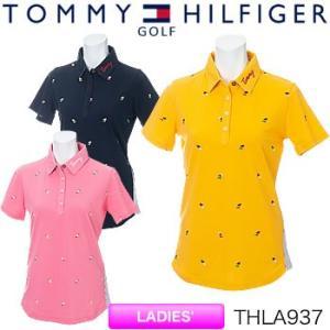 トミーヒルフィガーゴルフ TOMMY HILFIGER GOLF レディース 半袖ポロシャツ THLA937 2019年春夏モデル|morita-golf