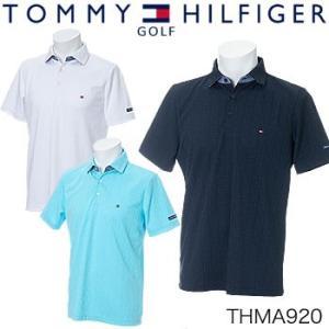 トミーヒルフィガーゴルフ TOMMY HILFIGER GOLF ジャカード 半袖ポロシャツ THMA920 2019年春夏モデル|morita-golf