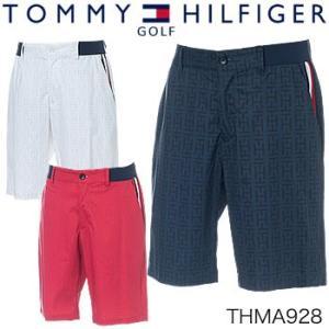トミーヒルフィガーゴルフ TOMMY HILFIGER GOLF ロゴプリント ショートパンツ THMA928 2019年春夏モデル|morita-golf