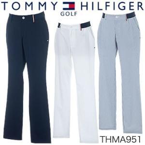 トミーヒルフィガーゴルフ TOMMY HILFIGER GOLF シアサッカー ロングパンツ THMA951 2019年春夏モデル|morita-golf