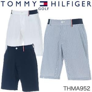 トミーヒルフィガーゴルフ TOMMY HILFIGER GOLF シアサッカー ショートパンツ THMA952 2019年春夏モデル|morita-golf
