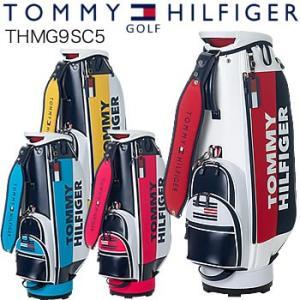 トミーヒルフィガーゴルフ TOMMY HILFIGER GOLF スプリット キャディバッグ THMG9SC5 2019年モデル|morita-golf