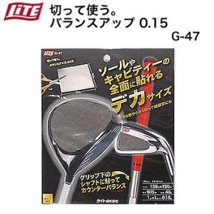 ライト 切って使う。バランスアップ0.15 G-47 morita-golf