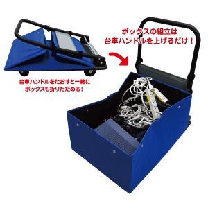 折りたたみ台車ボックス SFたおスルーボックス カバー付き SF-E521|moriya-honpo