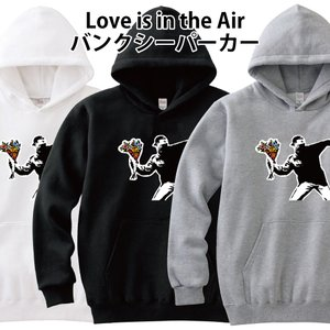Banksy バンクシー パーカー Love is in the Air 花束 S M L XL 2...